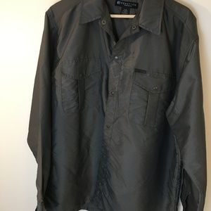 Kenneth Cole Reaction Nylon Button Up Shirt